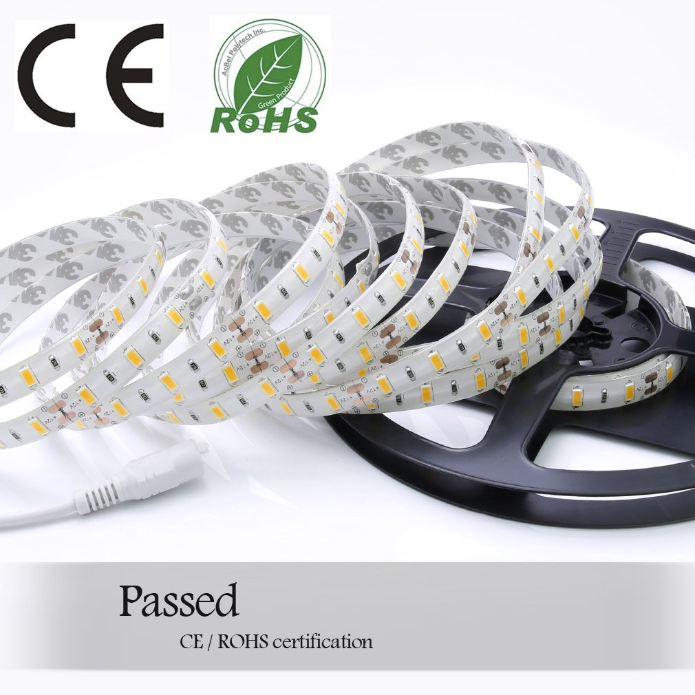 Auralum - Cinta de luces LED (flexible, 5 m, 72W, SMD, 5630, 300 ...