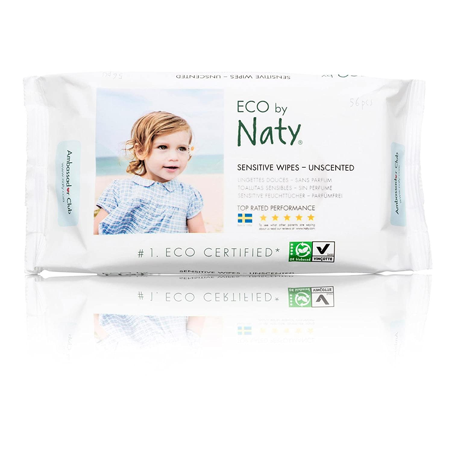 Amazon.com: Naty Eco Sensitive Lightly Unscented Wipes - 56 per pack -- 12 packs per case.: Health & Personal Care