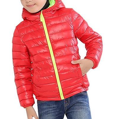 super populaire 92ab8 274c0 Eozy Blouson Manteau Léger Enfant Garçon Doudoune à Capuche ...