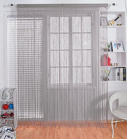 Amazon.com: Taiyuhomes Pearl Beads Thread Door Sheer Curtain as ...