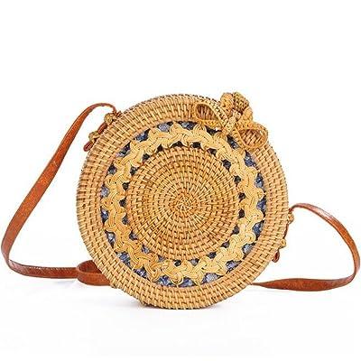 Handmade Crossbody bags Bohemian Straw Bags for Women Small Circle Beach Handbags Summer Vintage Rattan Bag 30%OFF