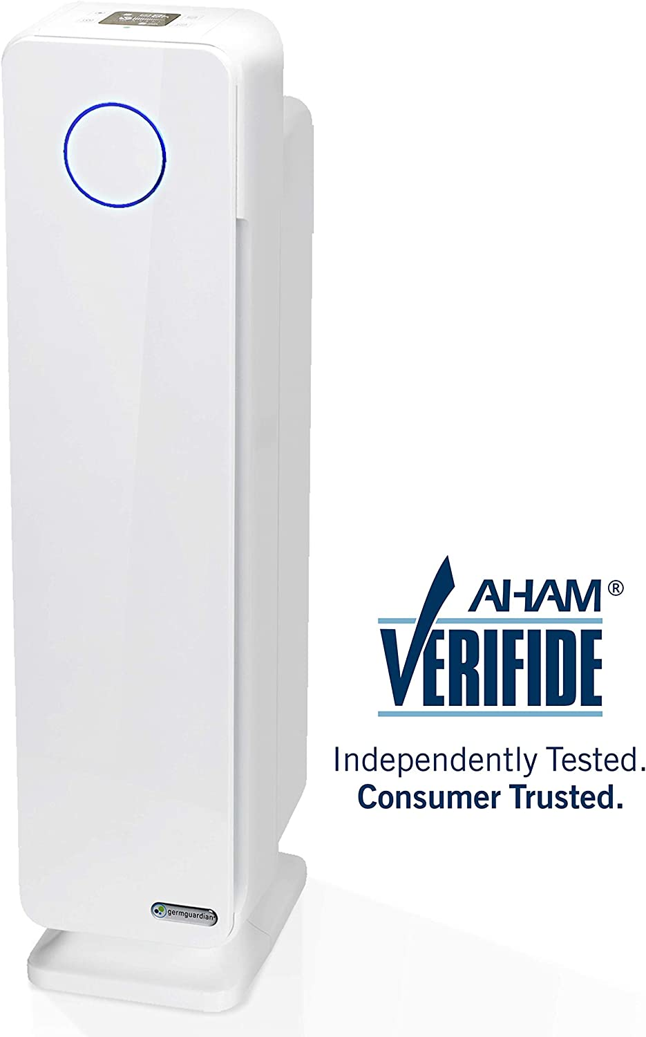 Germ Guardian True HEPA Filter Air Purifier for Home, Office, Large Rooms, Filters Allergies, Pollen, Smoke, Dust, Pet Dander, UVC Sanitizer Eliminates Germs, Mold, Odors, Quiet 28 inch 4-in-1 AC5350W
