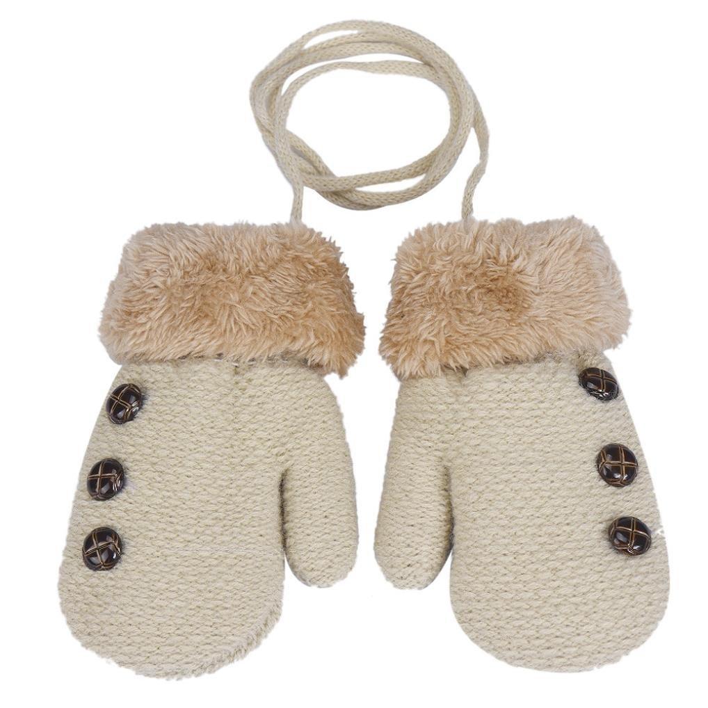 SetMei Infant Baby Boy Girl Leaf Keep Warm Glove For 0-12 Months