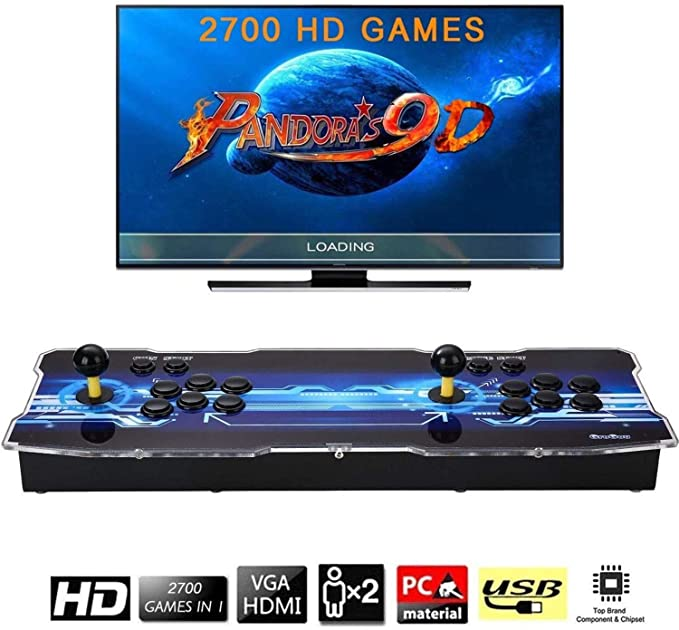 Amazon.es: [Arcade Game Console 2700] Pandora Box 9D 2700 Juegos Retro Consola maquina recreativa Arcade Video Gamepad VGA/HDMI/USB