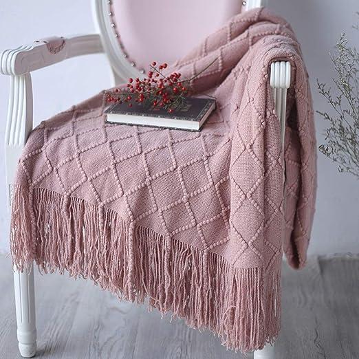Manta cálida sobre sofá cama Manta de tiro de punto para sofá y ...