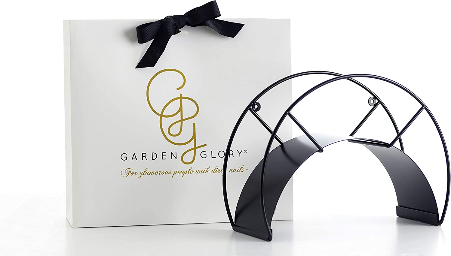 Black Garden Hose Holder - Black Swan - Premium Design Wall Mounted Water Hose Hanger - The Most Stylish Hose Storage You Can Find (Carry up to 130feet Hose)