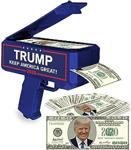 NINOSTAR Donald Trump Money Gun | Keep America Great 2020 Re-Election Cash Spray| Rain Money Shotter | Pack of 100 Presidential Dollar Bill