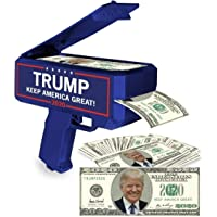 NINOSTAR Donald Trump Money Gun | Keep America Great 2020 Re-Election Cash Spray| Rain Money Shotter | Pack of 100 Presidential Dollar Bill