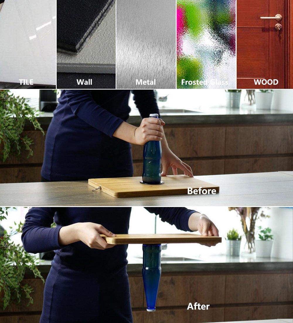 4 St/ück. Metall transparent K/üchenschr/änke oder Fliesen schwarz Whiteboard iSkyline Anti-Rutsch-Gel-Pads f/ür GPS Glas