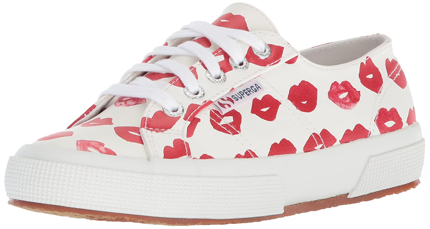 Superga Women's 2750 Puprintw Sneaker B0777XWQPX 37.5 M EU (7 US)|Red/Multi