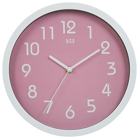 Amazon.com: HITO Modern Colorful Silent Non-ticking Wall Clock- 10 ...