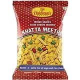 6 X Haldiram's Khatta Meetha Sweet and Salty Mix of Sago and Rice Flakes Indian Snacks 150g X 6 Pack