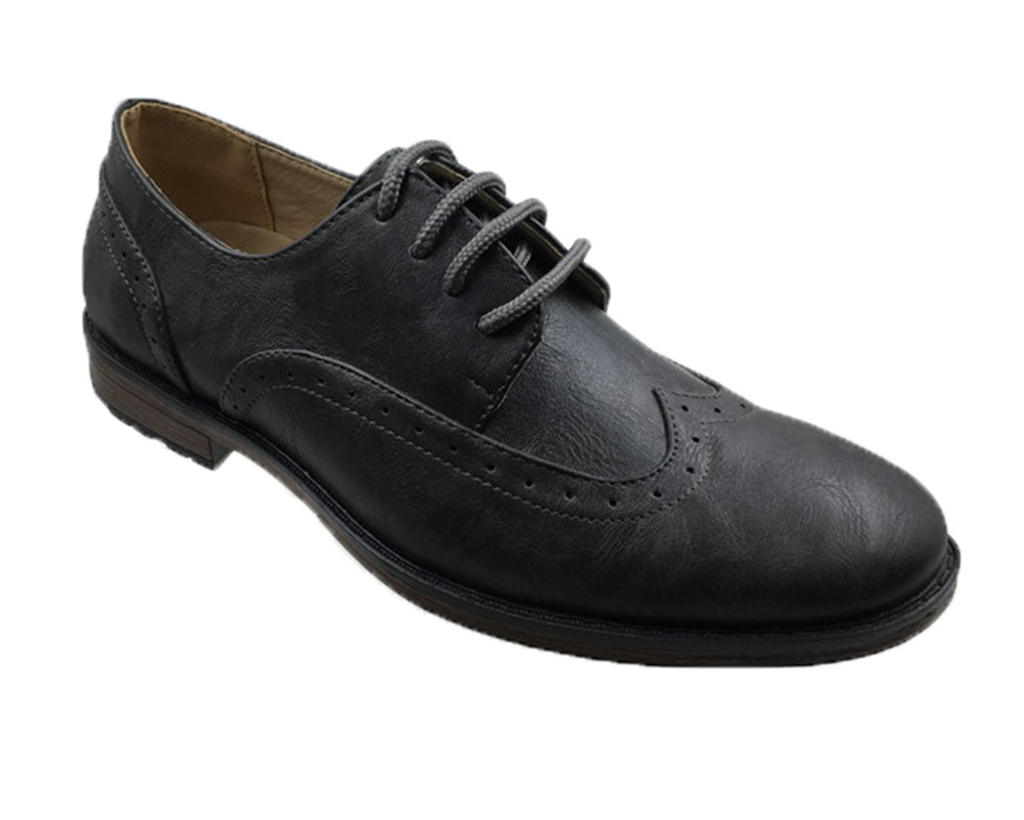 Andrew Fezza AF-8005 ARLO Men's Classic Oxford Lace Shoes, Grey Size-9