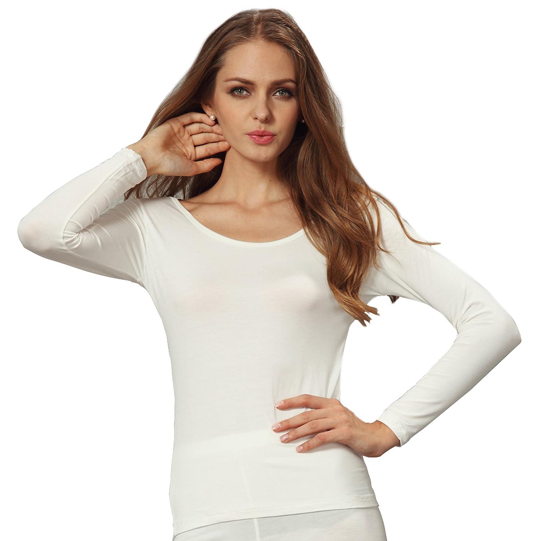 Liang Rou Women's Basic Round Neck Ultra-Thin Long Sleeve Shirt Baifu International Limited MT868S-$S