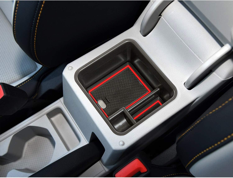 Lfotpp T Cross Suv Handschuhfach Armlehne Aufbewahrungsbox Center Console Armrest Storage Box Innen Rot Auto