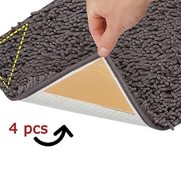 Amazon corner rug grippers 4pcs anti curling non slip rug pad corner rug grippers 4pcs anti curling non slip rug pad customizable ultra ppazfo