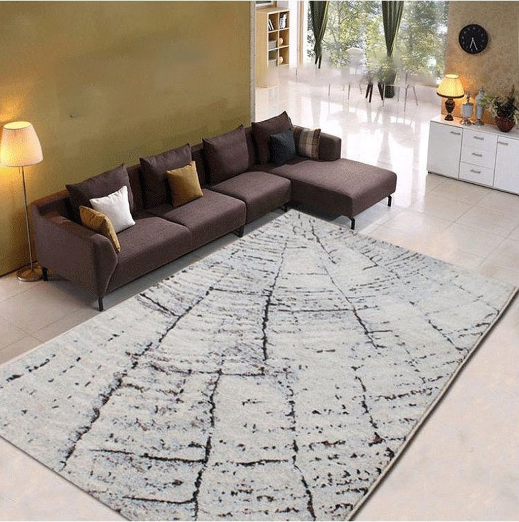 Hyun times Office Study Coffee Table Living Room Carpet Modern Simple Abstract Carpet Formaldehyde-free Anti-slip Cloth Off-line Do Not Fade Carpet