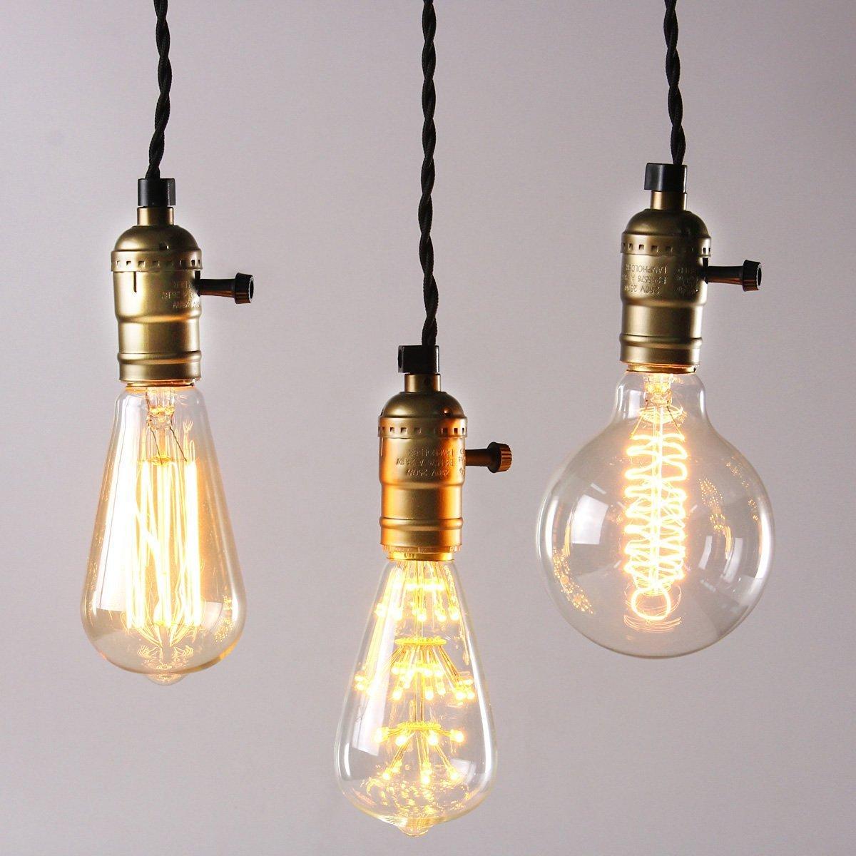 KINGSO Vintage Retro Hängeleuchte Edison Antike Pendelleuchte DIY ...