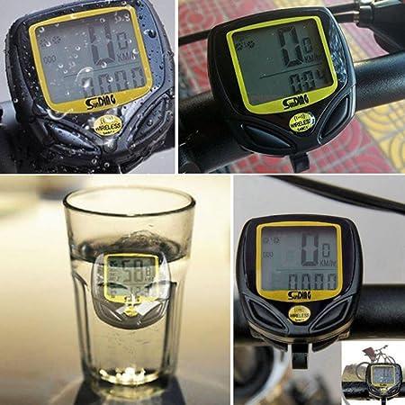 hcfkj Agua Densidad Bicicleta velocímetro Wireless Cycle Bike metros Ordenador cuentakilómetros: Amazon.es: Bricolaje y herramientas