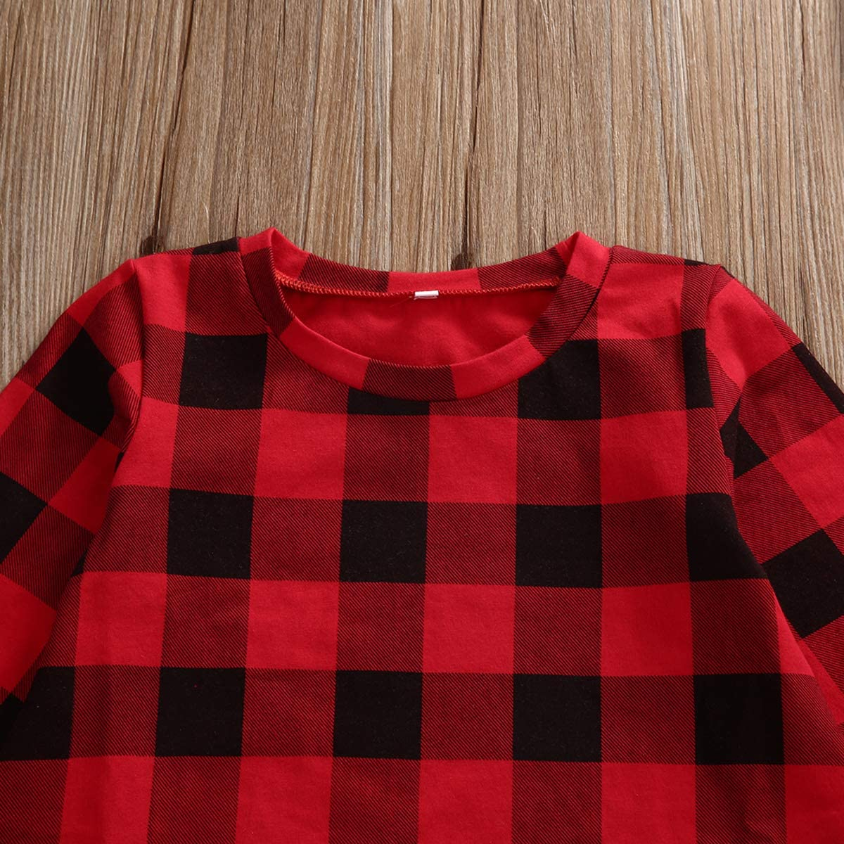 Kayotuas Toddler Kids Baby Girl Plaid Dress Long Sleeve Belted Botton Down Shirts Dresses Infant Fall Outfits