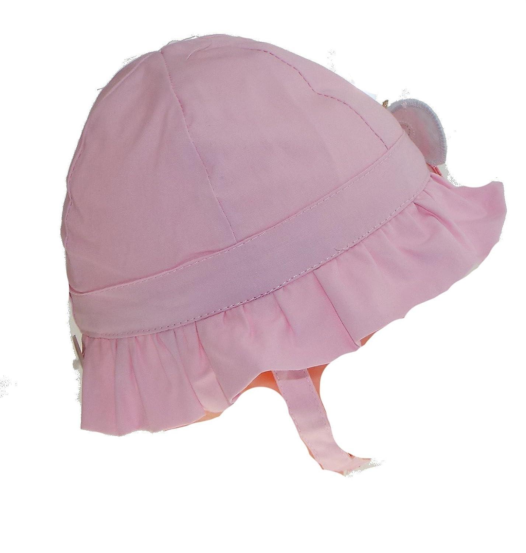f2590b92f156 1 bob - chapeau - bébé - fille - papillon - fuchsia ou rose - taille 47 ou  49 cm, 100% coton.  Amazon.fr  Vêtements et accessoires