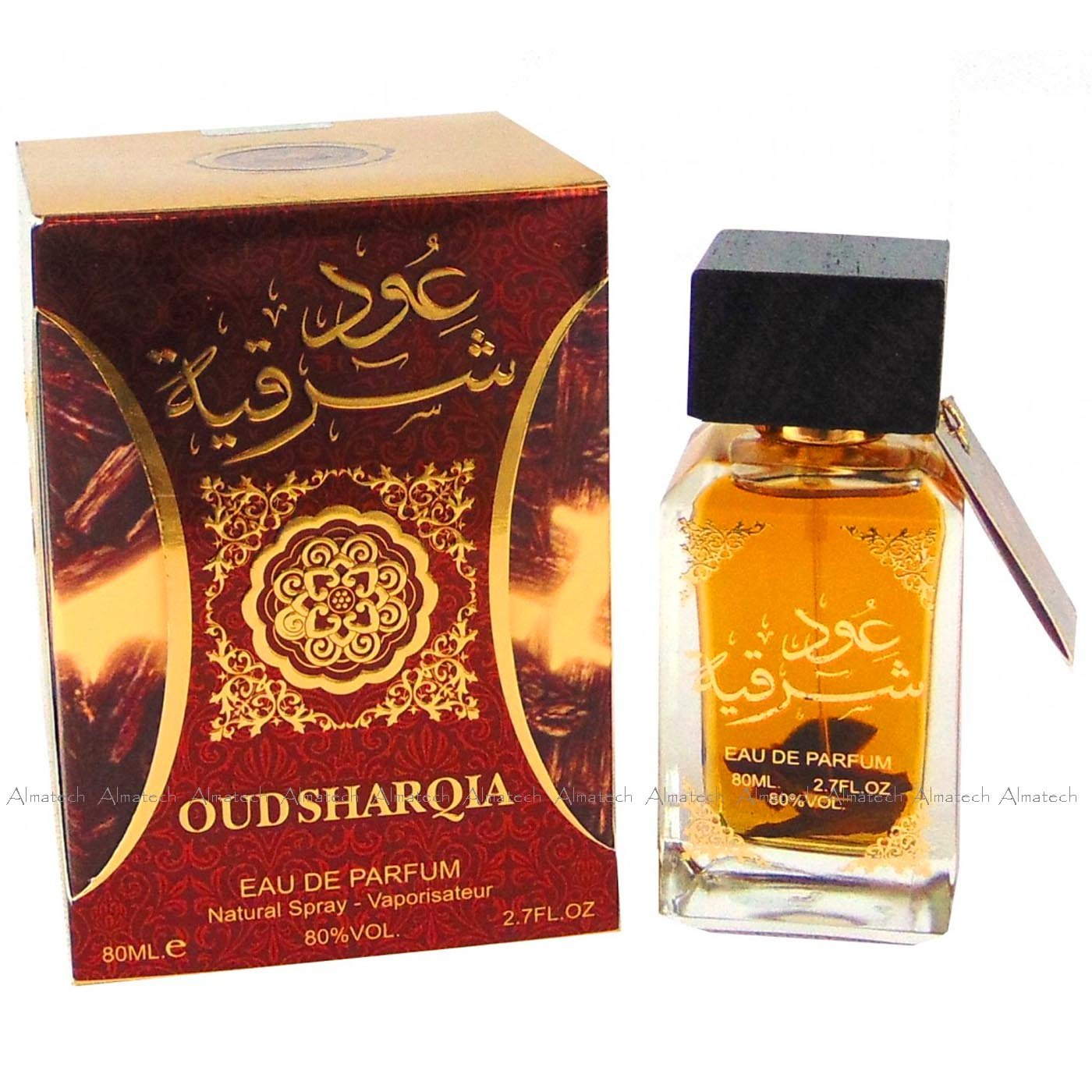 Al Zafraan OUDH Sharqia 80ml Eau Da Parfum Attar Arabian Perfume From UAE made in U.A.E