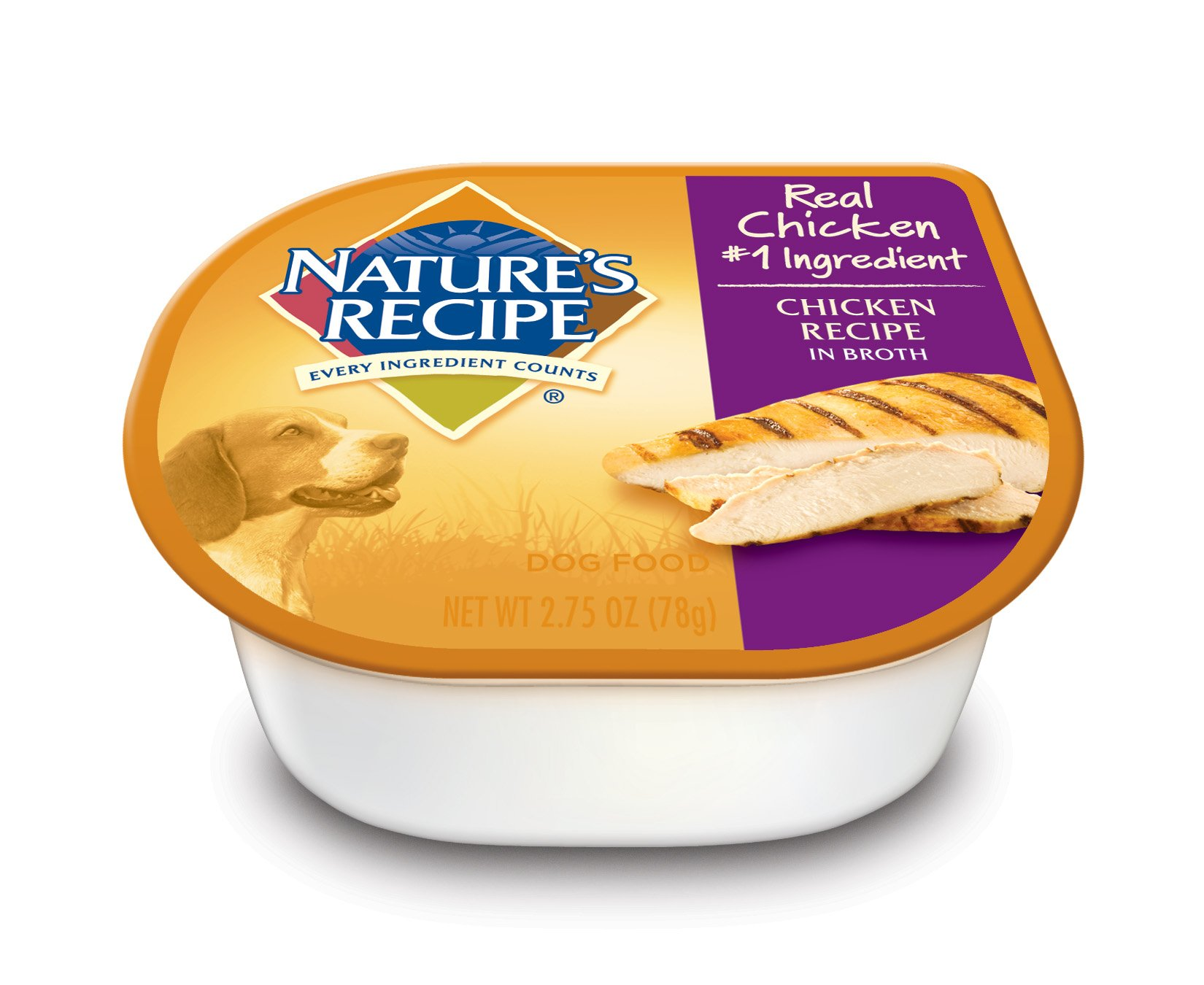 Nature's Recipe Wet Dog Food, Chicken Recipe In Broth, 2.75-Ounce Cup (Pack of 24)