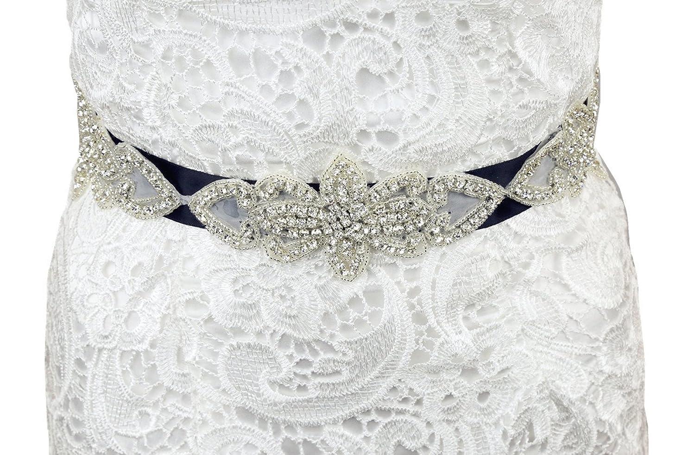 SoarDream Rhinestone Bridal Belts, Wedding Dress Sash, Bridal Dress Belt.