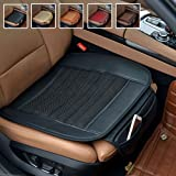 Car Seat Cushion,Car Seat Covers Suninbox Car Interior Seat Covers Pad Mat[Bamboo Charcoal]Breathable Comfortable Seat Covers,Anti-skid Leather Four Seasons General Car Seat Protector[Black]