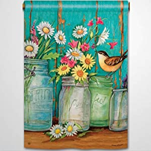 BYRON HOYLE Just Picked Garden Flag Decorative Holiday Seasonal Outdoor Weather Resistant Double Sided Print Farmhouse Flag Yard Patio Lawn Garden Decoration 12 x 18 Inch236548