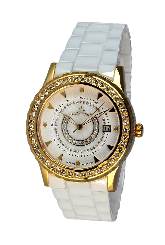 Stella Maris Damen-Armbanduhr Analog Quarz Premium Keramik Diamanten - STM15Z5