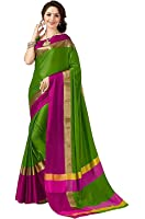 Ruchika Fashion Artificial Silk Saree With Blouse Piece(Aura Variations)