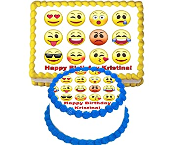 Emoji Edible Image Cake Topper Cupcake Toppers Party Supply