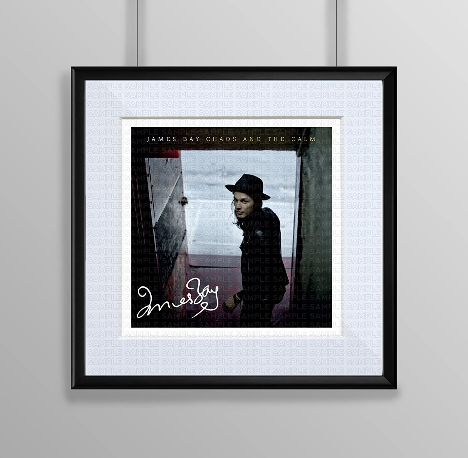 Framed & Mounted James Bay - Chaos And The Calm Signed Autograph ...