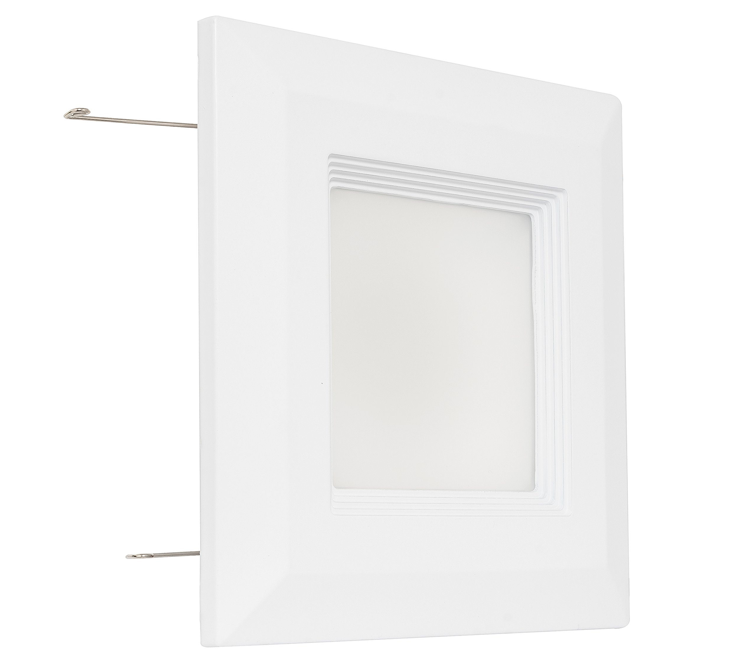 Westgate Lighting 9 Watt 4'' inch Recessed Lighting Kit with Baffle Trim - Square Shaped LED Retrofit Downlight - Premium Dimmable Light Fixture - Best Ceiling Lights - (1 Pack, 3000K Soft White)