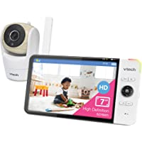 VTech VM919HD Video Monitor with 7-inch True-Color HD 720p Display, Fully Remote Pan, Tilt, Zoom, 360 Panoramic Viewing…