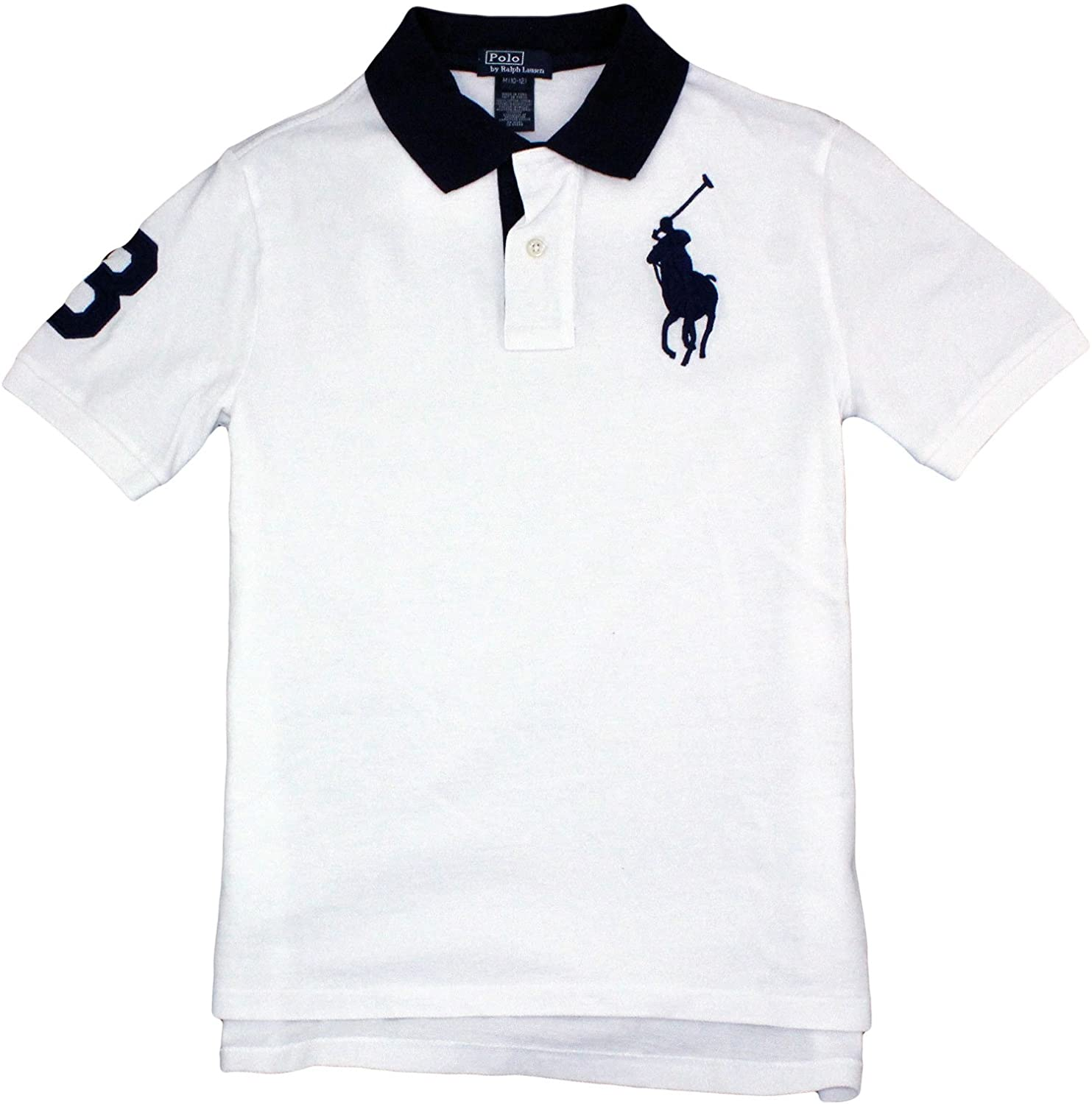 a9b8e608 Ralph Lauren Boy's Polo Shirt with # 3 on Arm