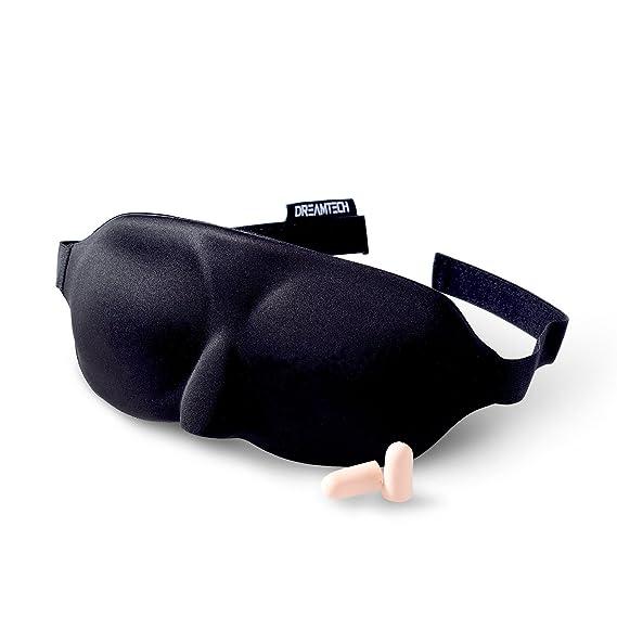 Máscara para dormir DreamTECH® DISEÑO ESBELTO con tapones para los oídos gratis, conjunto de 1 pieza.: Amazon.es: Equipaje