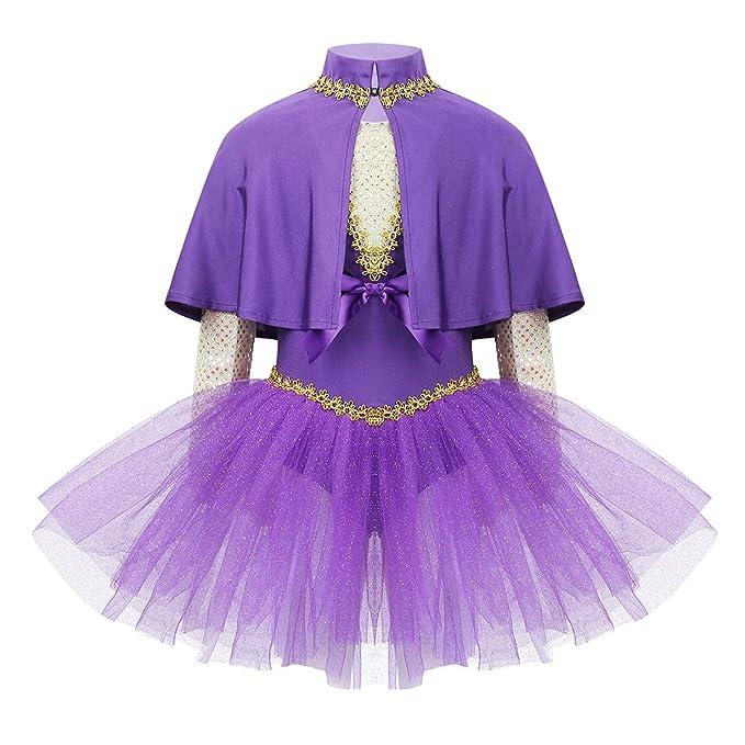 iiniim Vestido Maillot de Ballet Danza con Falda Niña Tutú Ballet ...