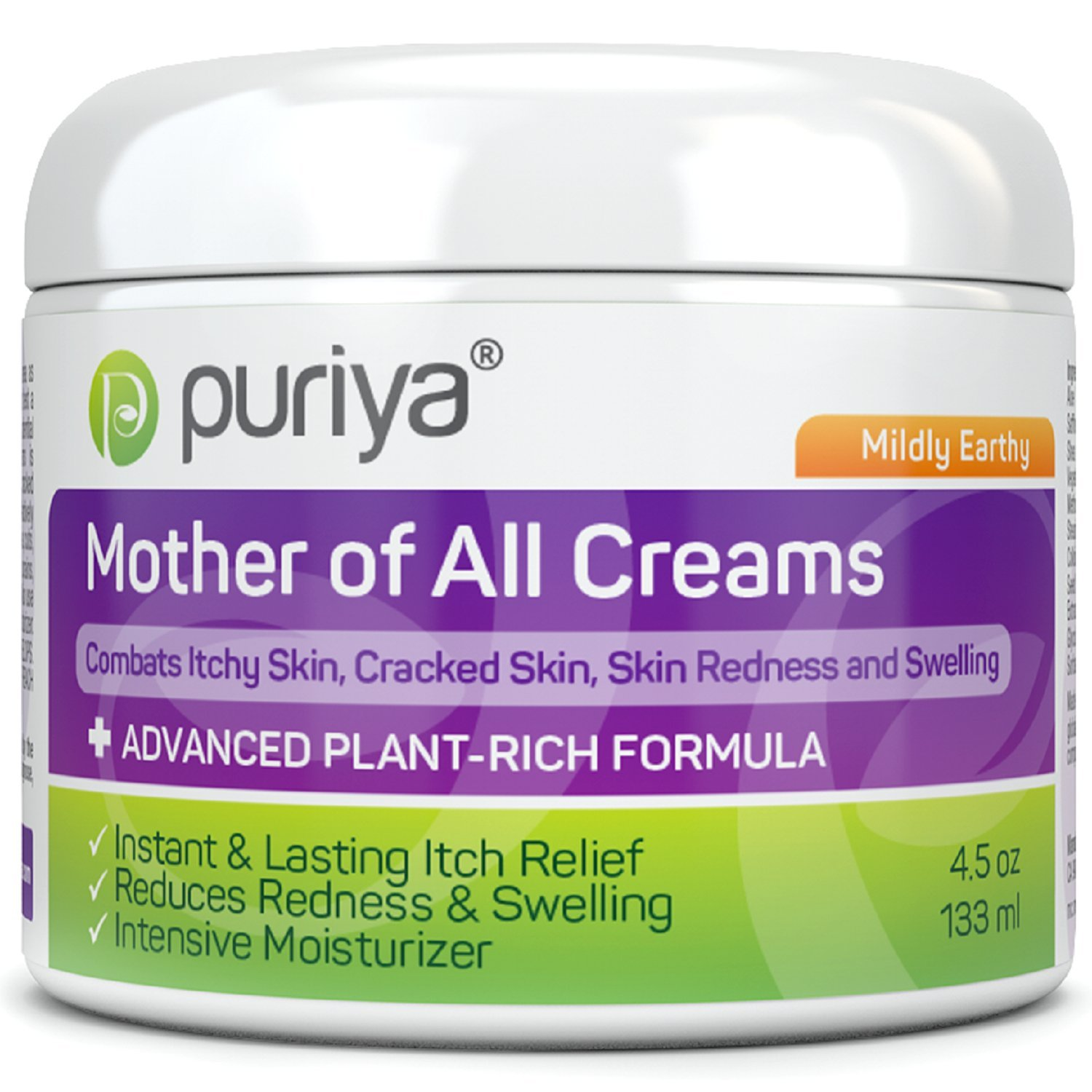 Puriya Intensive Moisturizer for Dry Cracked Skin. Gentle Body Lotion, Hand, Foot, Face Cream- Award Winning - Plant Based Instant Lasting Relief. Hydrates and Softens Rough Skin (Mildly Earthy) by Puriya
