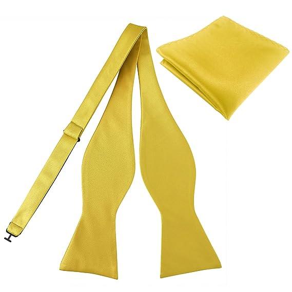 KOOELLE - Corbata - para hombre amarillo M: Amazon.es: Ropa y ...