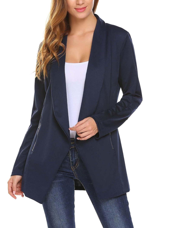 Meaneor Mujeres Blazer Elegante Oficina Traje de Chaqueta Outwear Casual