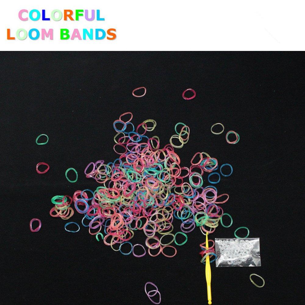 1800 Loom Bands & 72 S-Clips Métier à tisser Bandz élastique couleur glitter stylo Colorful Loom®