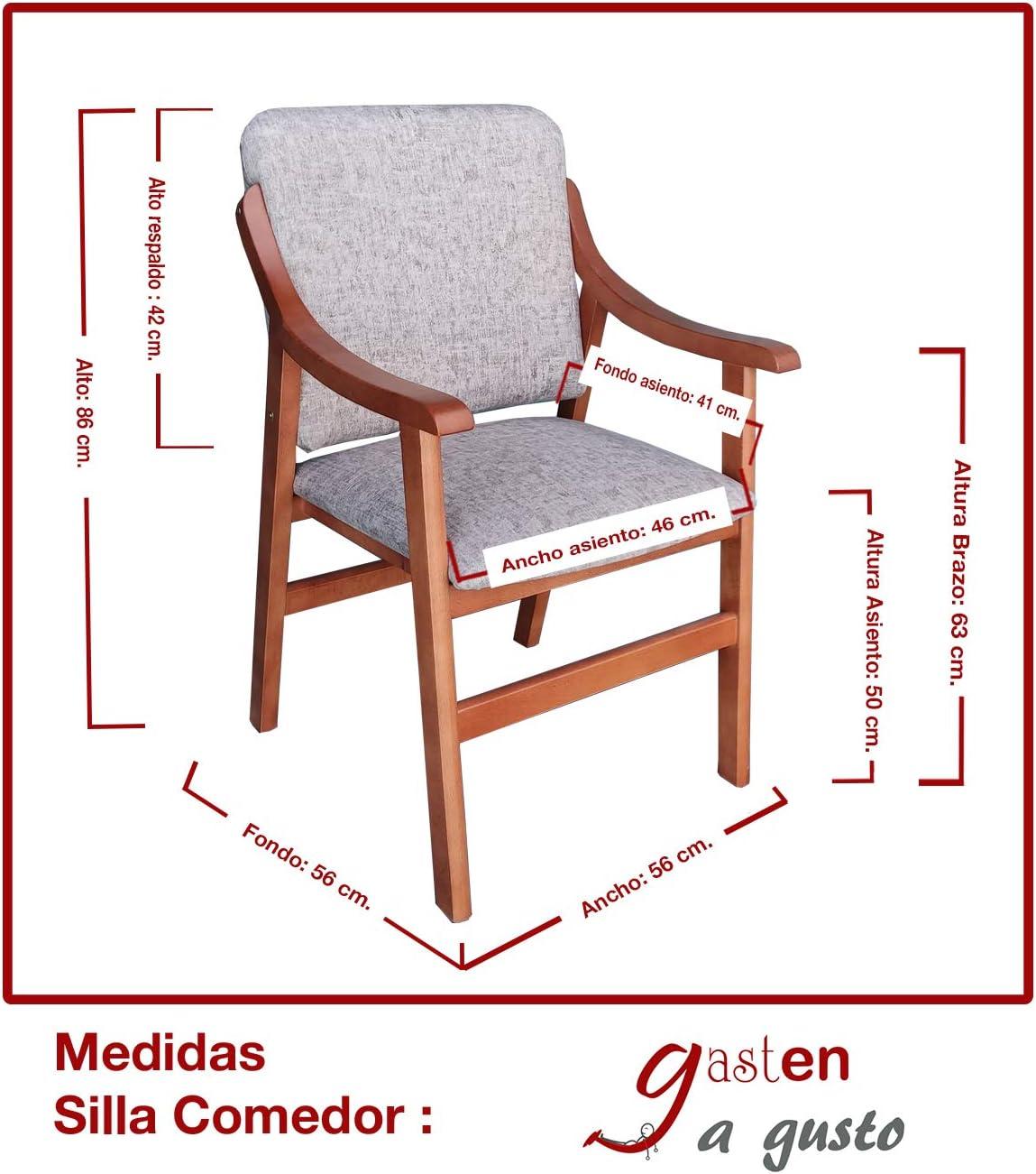 medidas estandar respaldo silla comedor