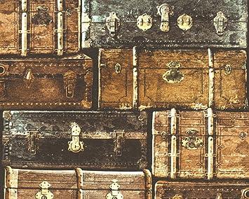 Parato Maletas Vintage usurate colores negro, beige y marrón decoeasy 21510 - 25 Effeline: Amazon.es: Bricolaje y herramientas