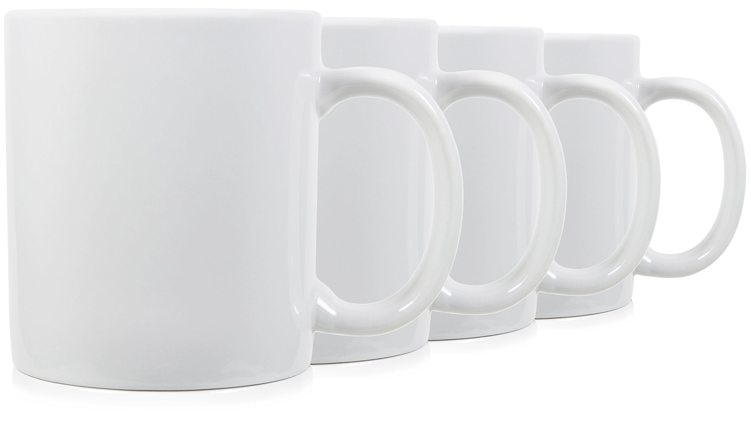 Serami 20oz Extra Large Classic Mugs for Coffee or Tea. Large Handle and Ceramic Construction, Set of 4