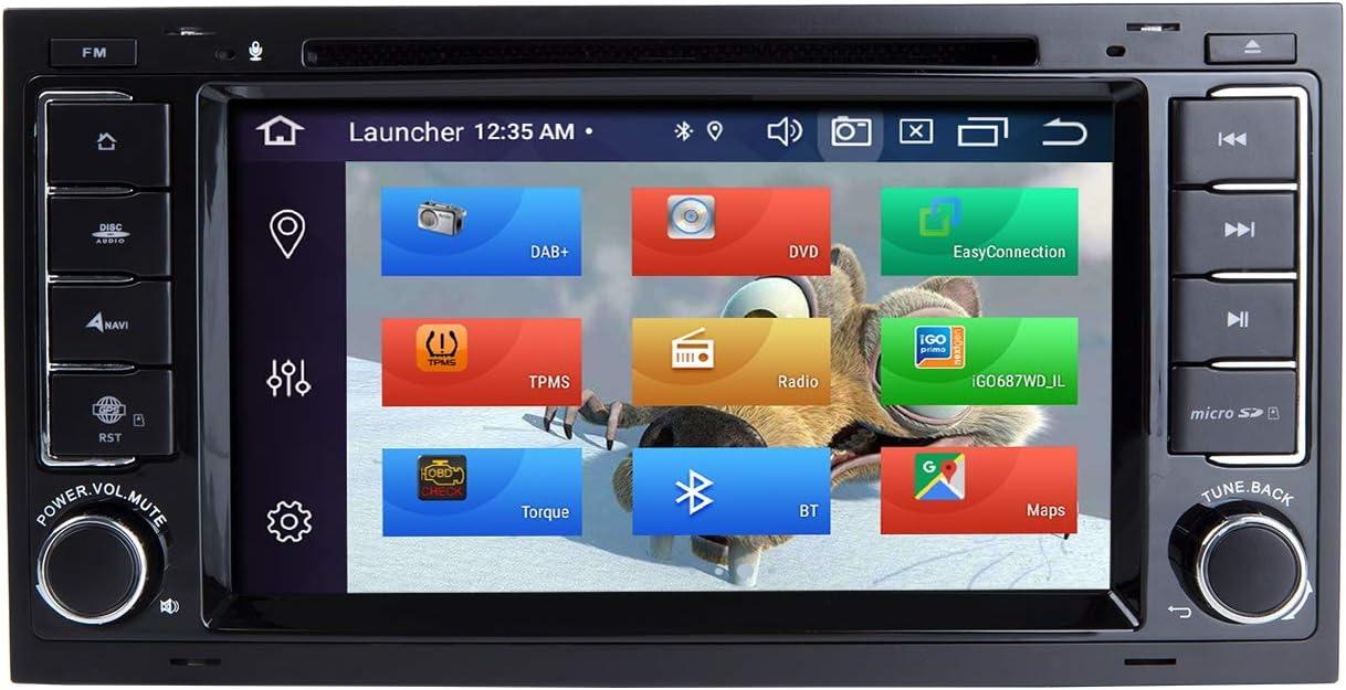 ZLTOOPAI Lettore multimediale per auto per VW Volkswagen TOUAREG T5 Transporter Android 10 Octa Core 4G RAM 64G ROM 7 pollici IPS Double Din Car Radio Audio Stereo Navigazione GPS