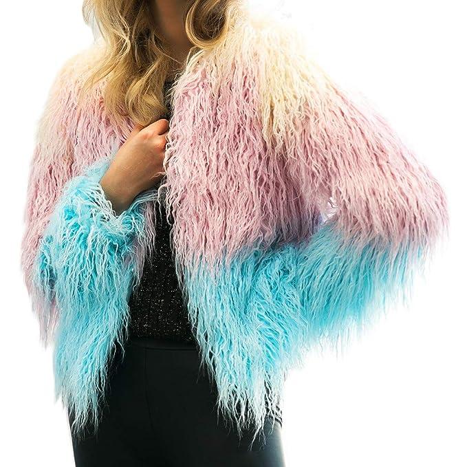 ... para Mujer SunGren Abrigo de Invierno cálido para Mujer Gradiente de Color Parka Prendas de Vestir Exteriores Tops: Amazon.es: Ropa y accesorios