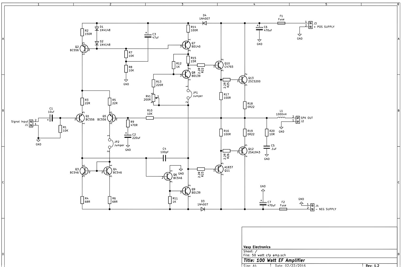 2sc5200 Amplifier Circuit Diagrams - Wiring Diagrams Schema