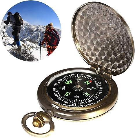 Mini bussola tascabile portatile per la navigazione in campeggio